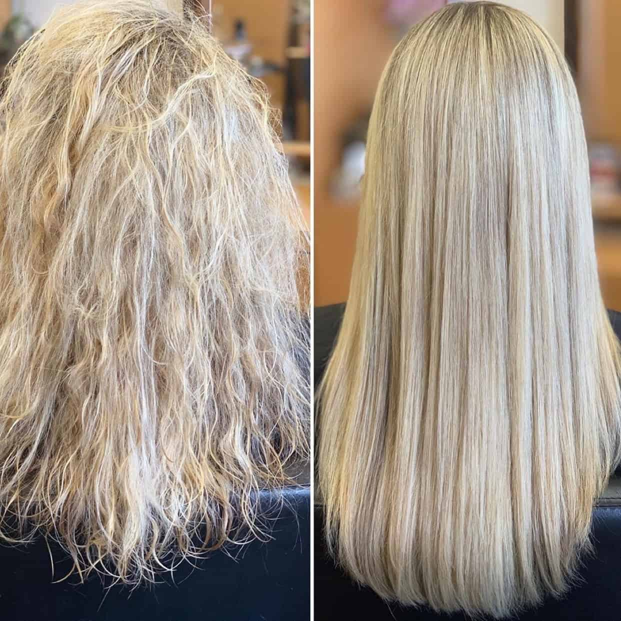 brazilian blowout before and after