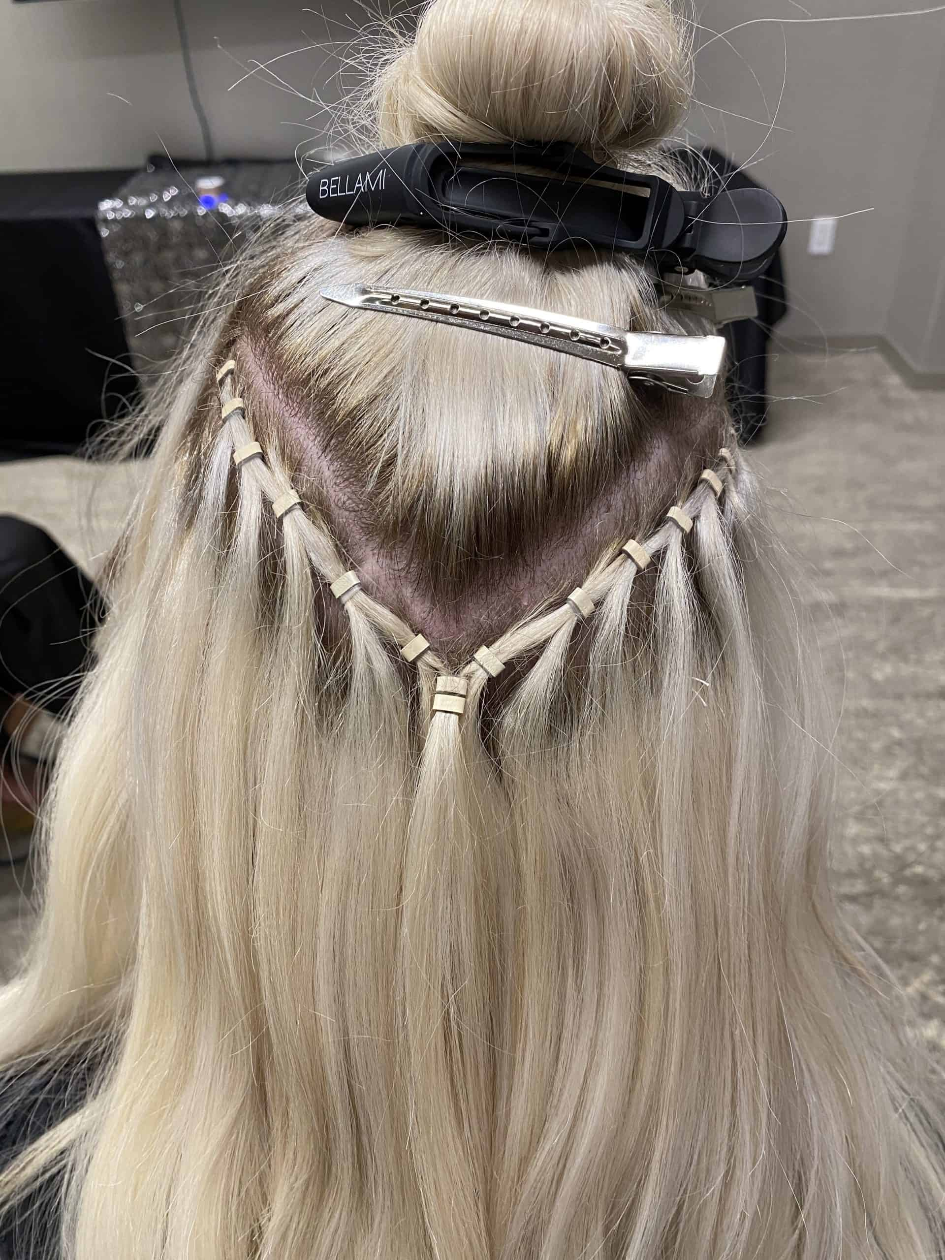 waterfall beaded row extensions